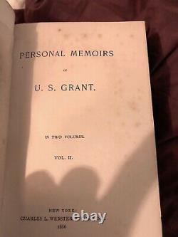 Personal Memoirs Of U. S. Grant, First Edition, Qtr. Leather, Good Condition