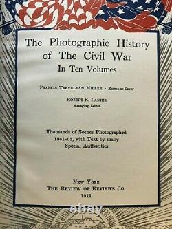 Photographic History of the Civil War 1911 -Full Set (10 Vols) Excellent Cond
