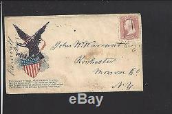 Plainville, New York Cover, #65 Pen &manuscript, CIVIL War Patriotic Design