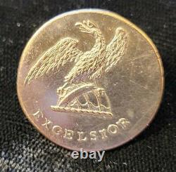 Pre CIVIL War 1 Pc Flat New York State Militia Button Alberts# Ny-9b-ty War 1812