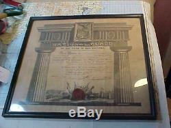 Pre CIVIL War 1841 Nyng New York National Guard Artillery Soldier Certificate