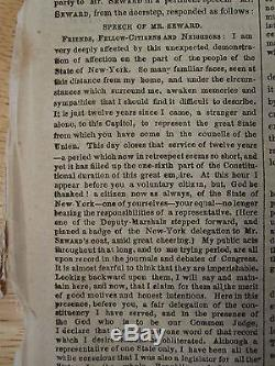 Pre CIVIL War Ny Times March 5 1861 Abraham Lincoln Inauguration Csa Navy Sc Fl