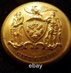 Pre CIVIL War/civil War Era New York City Guard Militia Button Alberts#ny-73-a