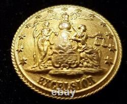 Pre CIVIL War/civil War Era New York State Seal Militia Button Alberts# Ny-24-a