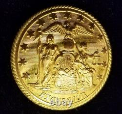 Pre CIVIL War/civil War Era New York State Seal Militia Button Alberts# Ny-24-ty