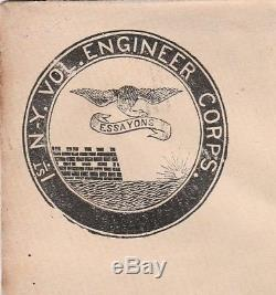 RARE 1860s Civil War Cover Envelope 1st NY Vol Engineer Corps Essayons Soldier