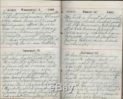 RARE 1869 School Teacher's Handwritten POST CIVIL WAR DIARY Hamlin Monroe NY