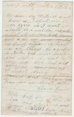 RARE Civil War Letter 1862 Soldier Charles Barber Suicide & War Geneseo NY