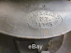 RARE Civil War NEW YORK NAVY YARD 1863 Cartridge Box