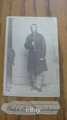 RARE IDED Civil War Soldier CDV 1st Sergt O. H. Millham 109th New York Volunteers