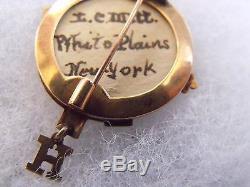 RARE ORIGINAL 7th REGIMENT NYNG NEW YORK SOLID GOLD CIVIL WAR VETERAN PIN