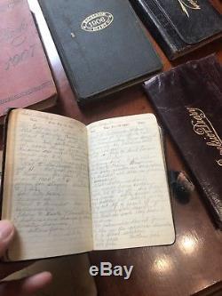 RARE handwritten diaries set 1900-1926 NY CIVIL WAR VET HUSBAND & WIFE ENTRIES