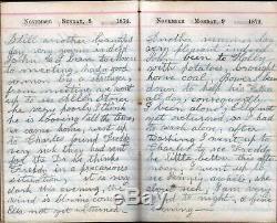 Rare 1874 Handwritten Post CIVIL War Diary Much Sickness Hamlin Monroe Ny