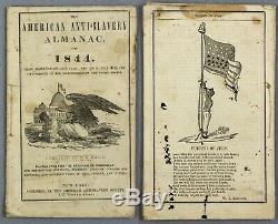 Rare American Anti-Slavery Almanac for 1844 pre-civil war slave emancipation