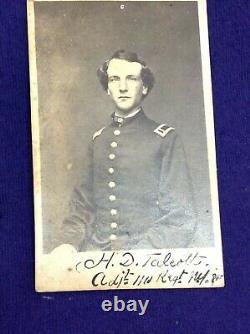 Rare Antique Photograph CIVIL War Soldier H D Talcott 110 Regiment Oswego Ny