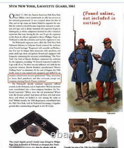 Rare CDV Photo ID'd Civil War Soldier 55th NY Lafayette Guard Zouave
