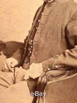 Rare Civil War CDV Wounded ID'd Infamous 1st NY Light Artillery Petits Battery B