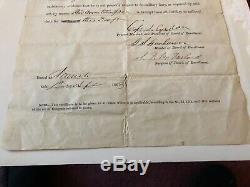 Rare Civil War Discharge Paper Paid $300 commutation exemption (New York) 1863