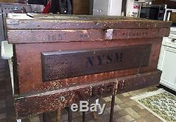 Rare Civil War Era Chest/Trunk NYSM(New York State Militia)165Th NG J. Plumkett