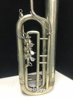 Rare Civil War Over-The-Shoulder Bass Saxhorn by C. A. Zoebisch & Sons NY c. 1860
