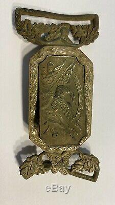 Rare Dug Pre Civil War NY Militia Excelsior Tongue and Wreath Belt Buckle