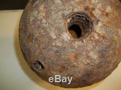 Revolutionary/Civil war 8 50 lb Cannonball Mortar Saratoga N. Y find