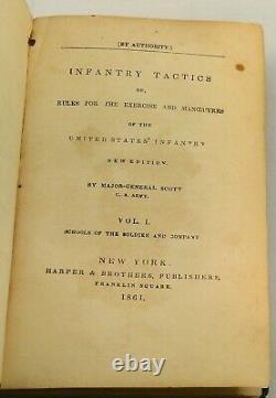 SCOTTS INFANTRY TACTICS 1861 Military Civil War Volume I Illustrated