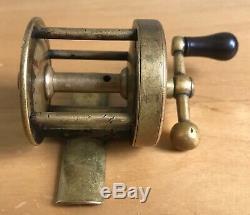 T. H. Bate Antique Civil War NY ball handle reel tiny 1 11/16 Conroy era 1860
