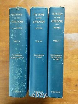 The Story of the Civil War Ropes and Livermore 3 Volumes Hardcover 1933