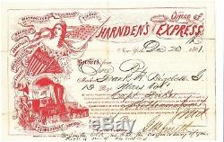 US 1861 Civil War Harnden's Express Rare Red New York December 20 1861