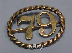 US Civil War 79th Infantry Regiment New York Volunteer Badge Hat Pin Highlanders