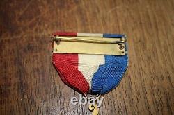 United States Civil War Veterans Medal GAR Dept. NY GAR 140 5 point ribbon gold
