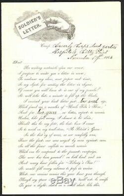 Unusual Civil War Partly-Printed Soldiers Letter 22nd NY Cavalry