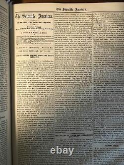Very Nice 1863 Scientific American Volume VIII Civil War