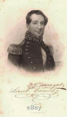 Very Rare 1879 CIVIL War Navy Farragut Illustrated Rare Signed Document Letter