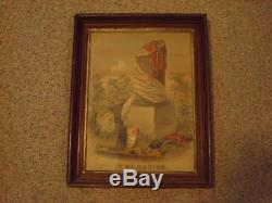 Very Rare framed Civil War Memorial Lithograph by C A David Cosack Co Buffalo NY