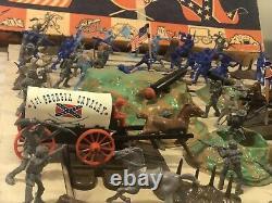 Vintage Civil War Play Set No 811 T. Cohn Inc Brooklyn NY battleground