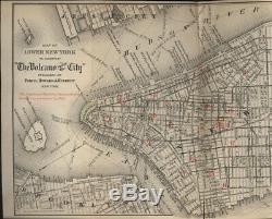 Volcano Under the City New York Civil War draft riots 1887 edition precinct map