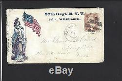 Washington, District Of Columbia, #65 CIVIL War Patriotic, 97th Regt. N. Y. V. Scarce